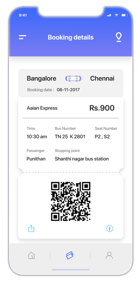 ticket validation for bus ticket app