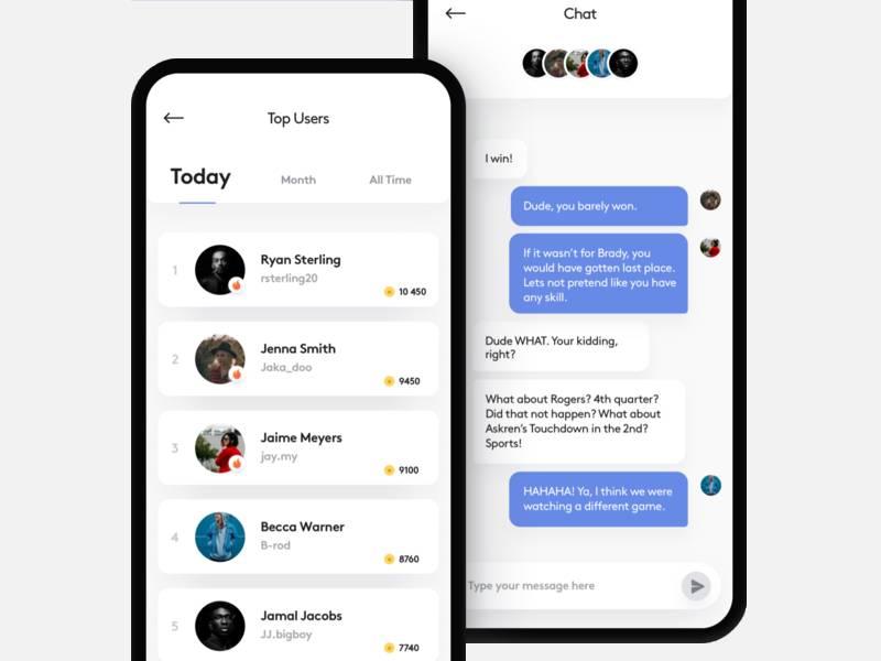 leaderboard chat fantasy sport