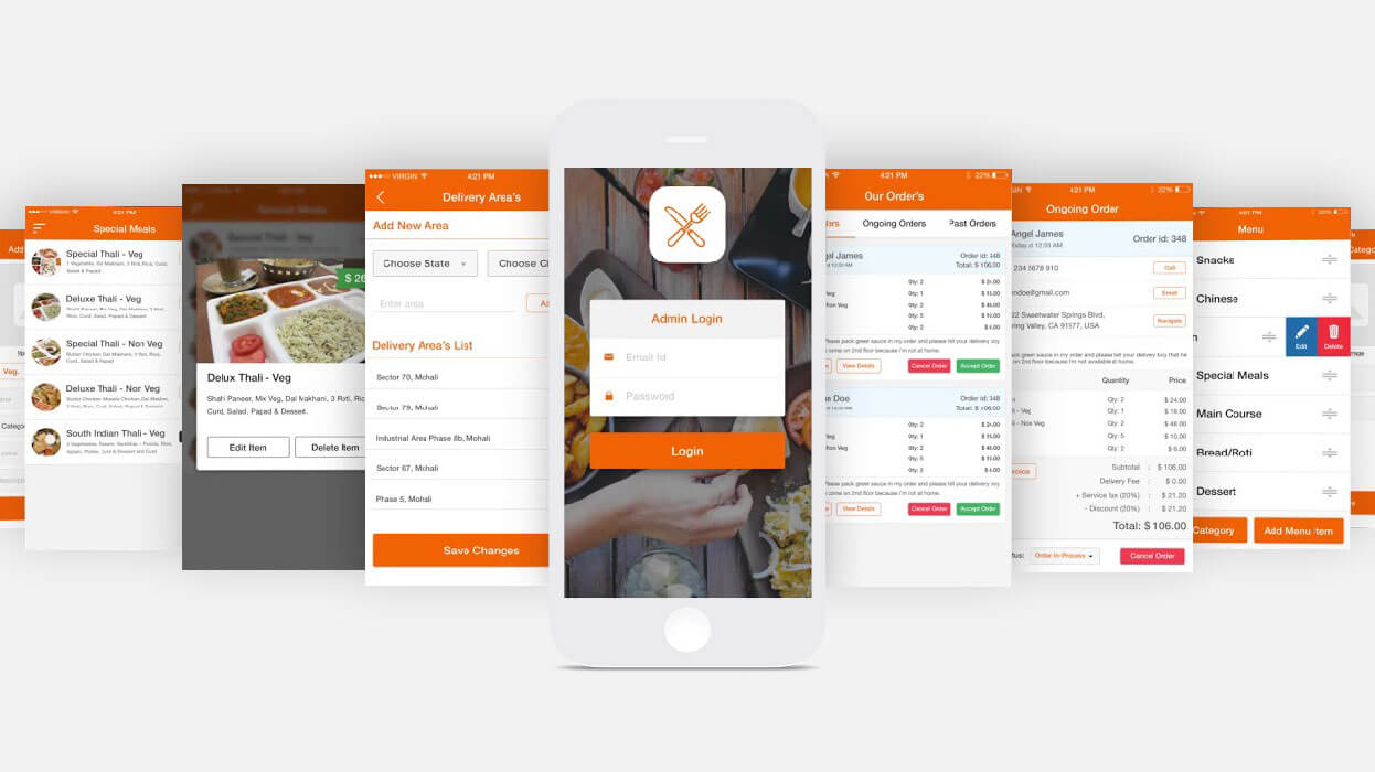 admin panel food delivery app