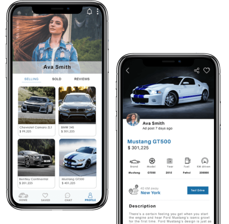 buy and sell car application