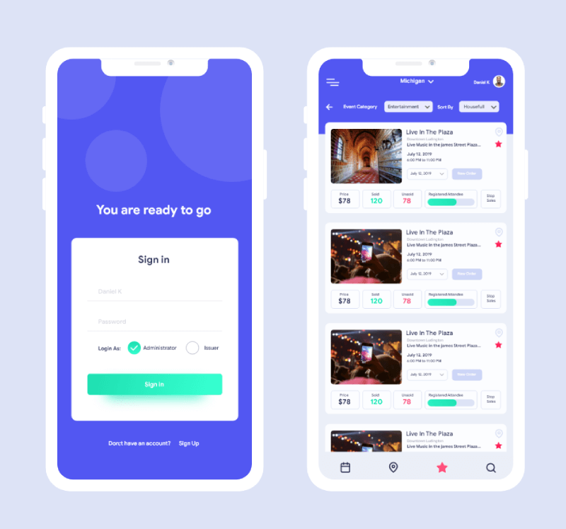 Event Ticket mobile App Development