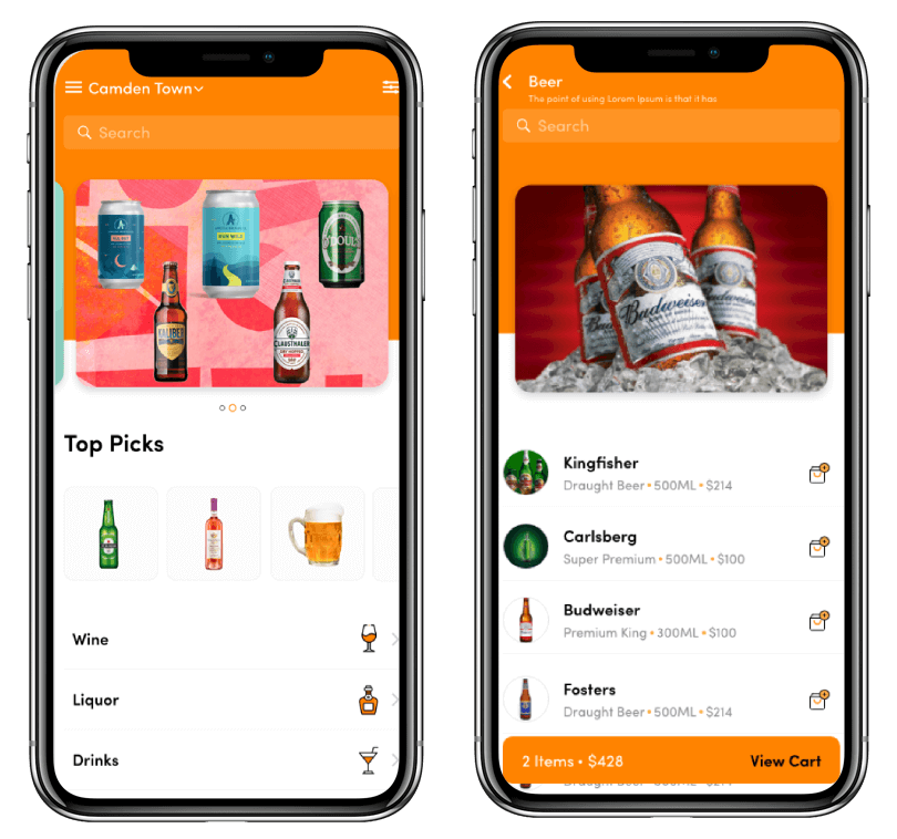 alcohol delivery mobile app