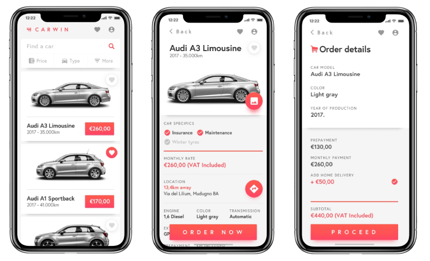 car lease app development