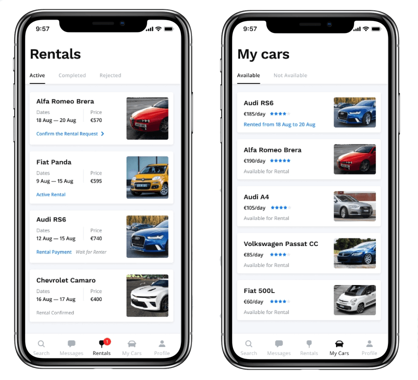 car lease mobile app development