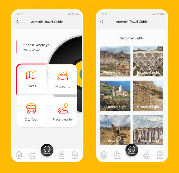 Audio Tour Guide App