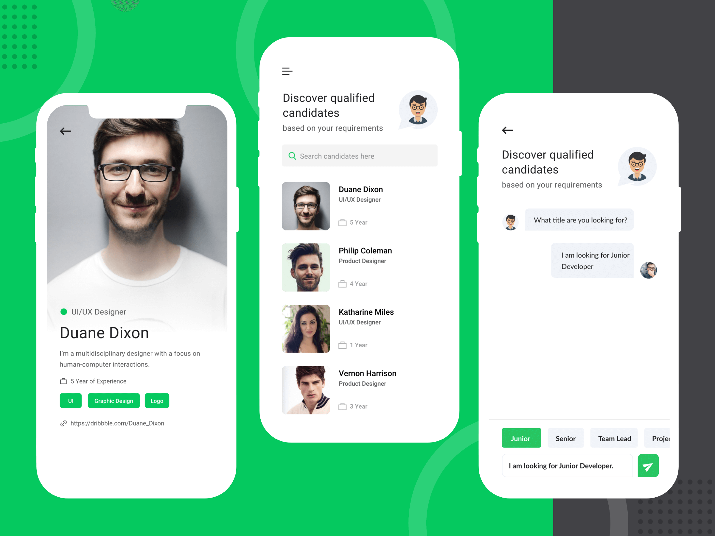 Job Portal App Chat Feature