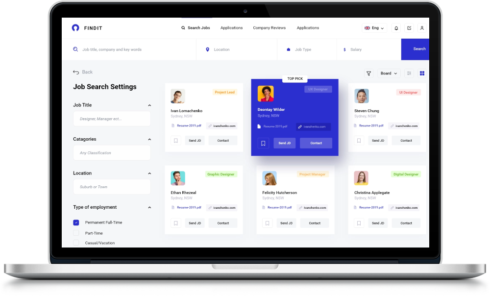 Job Search Admin Panel