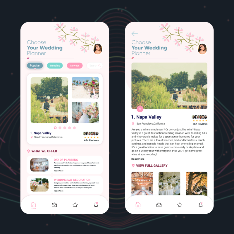 wedding planner app development