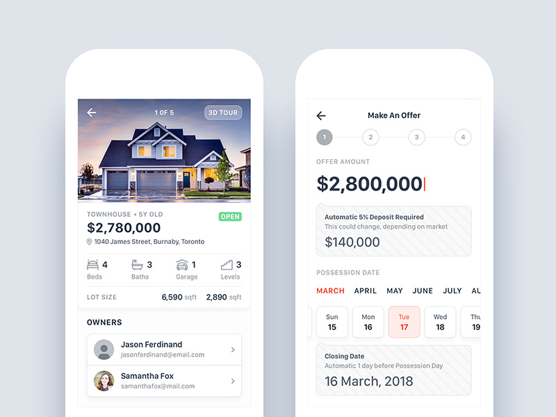 on demand real estate app