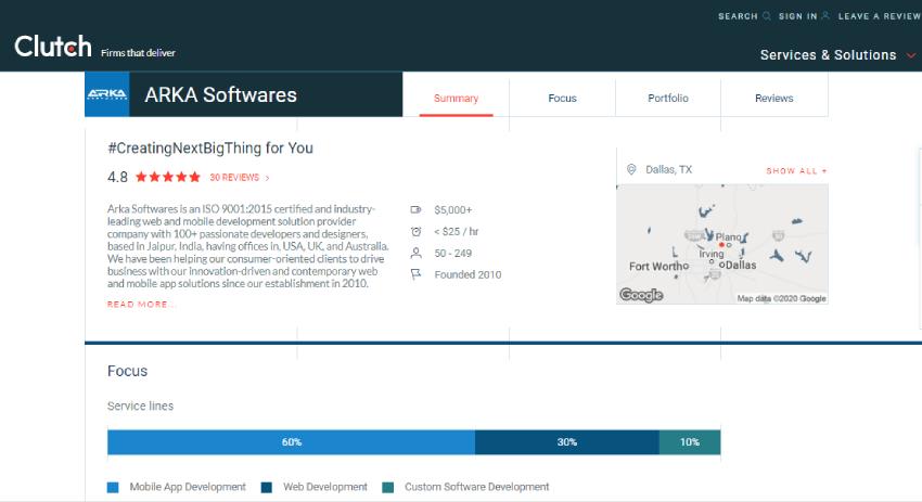 clutch arka softwares