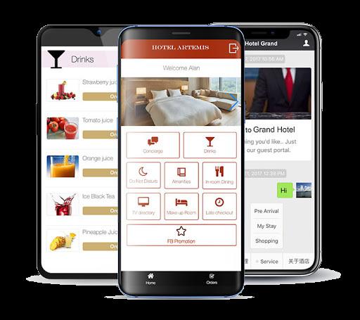 guest hotel app development in uae