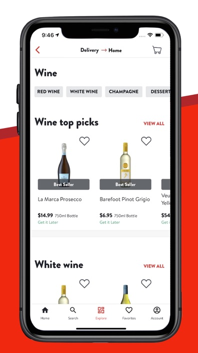 product filter feature in alcohol delivery app
