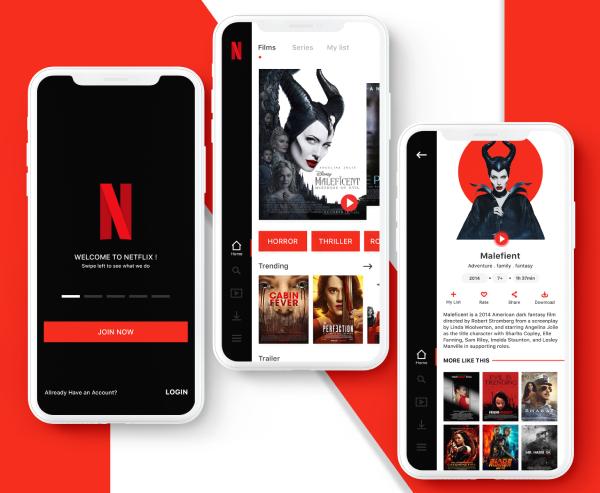 Social Login Signup on netflix app