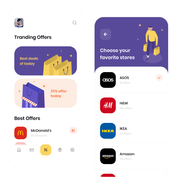 Browse offers category wise in deal app development