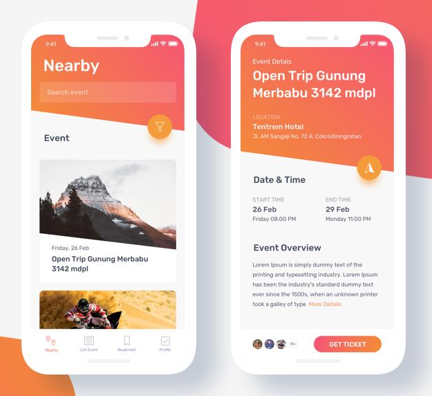 event ticket booking app