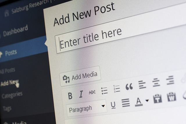 A WordPress dashboard showing the option to add a new post