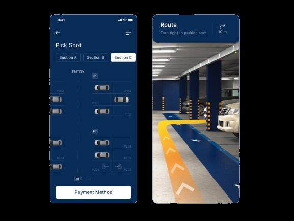 Car Parking Finder app development